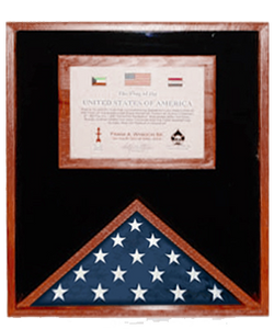 Flag Display Case.