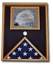 "Military Flag and Certificate Case hold a 8 1/2"" x 11"" certificate"