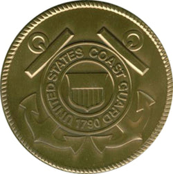 Coast Guard Service Medallion, Brass Coast Guard Medallion