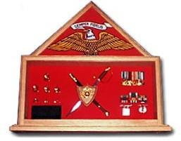 Military Shadow Box, Military flag and knife certificate,.