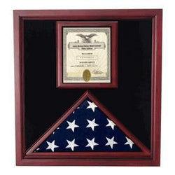 Award and flag display case display Case.