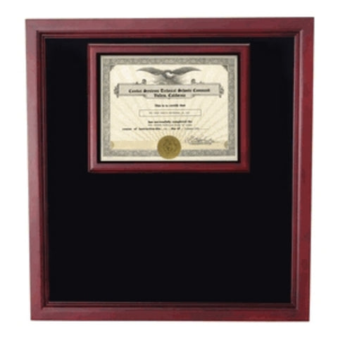 Award certificate Shadowbox, Military Frame.