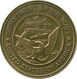 Navy Service Medallion, Brass Navy Medallion