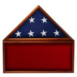 Flag Memorabilia Display Case,Red Background,Flag Case.