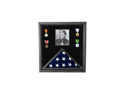 Flags Connections Military Photo Flag and Medal Display Case