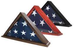 US Made Flag Case for 3' x 5' Flag, Black Finish