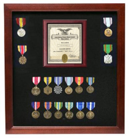 Military Certificate Medal Display Case.