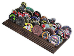 5 Row Challenge Coin Holder - Military Coin Display Stand