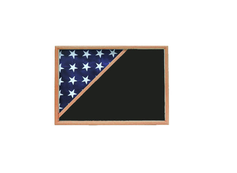 Shadow box for 5x9.5 flag , Oak