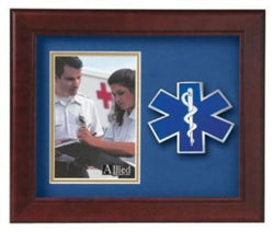 Flag Connections Emergency Medical Services Vertical Picture Frame.