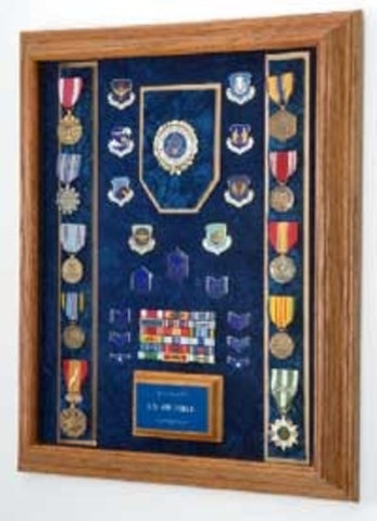 Air Force Awards Display Case - Awards & Medals Display Case.