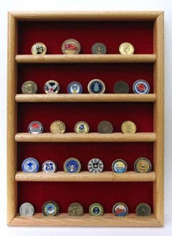 Wall Coin Display, Challenge coin wall display.