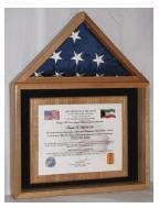 Certificate and American Flag Display Case. - The Military Gift Store