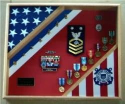 United States Coast Guard Flag Display Case,Coast Guard Gift designed to resemble the blue