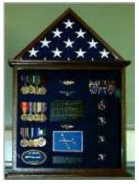 Flag and Medal Display cases, Flag and Badge display cases