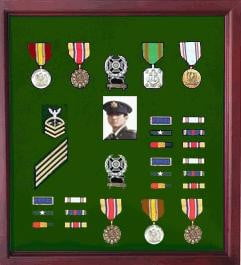 Medal Display Case Cherry Finish, Hand Made by Veterans