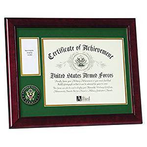 Allied Frame U.S. Army Medal and Award Frame with Medallion, Army Medal with Photo Frame