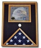 Military Flag and Certificate Case Holds a flag up to 3'x5' Or can hold 5x9.5 flag