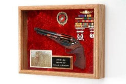 Gun Display Case,Gun Shadow Box,Decorative Frame for a Gun with Glass Front