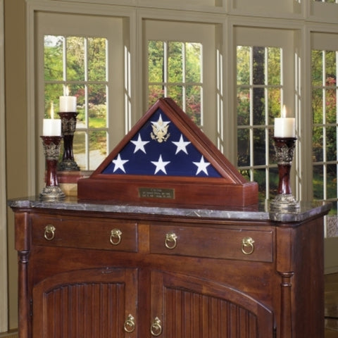 Burial Display case for flag.
