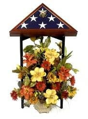 Tri-column Display Stand Hand Great as a flag display case stand and flag display case holder