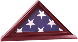 3'x5' Flag Display Case, Shadow Box (Not for Burial Funeral Flag), Solid Wood, Cherry Finish.