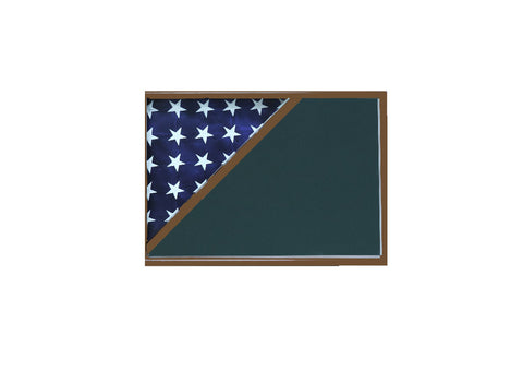Shadow box for 5x9.5 flag, Walnut Finish