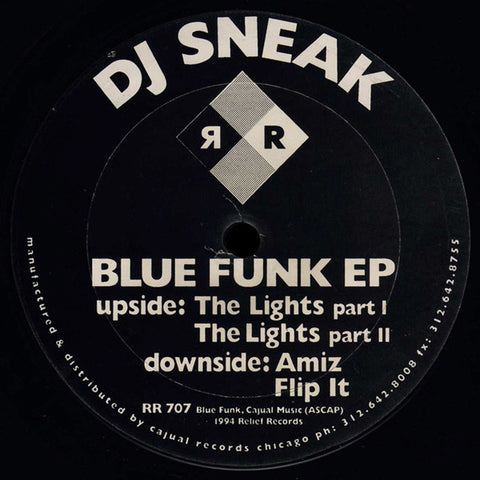 "DJ SNEAK : "" BLUE FUNK E.P "" (1996) 12 INCH"