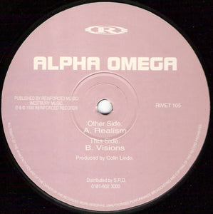 "ALPHA OMEGA : "" REALISM "" / "" VISIONS "" (1996) 12 INCH REINFORCED RECORDS"