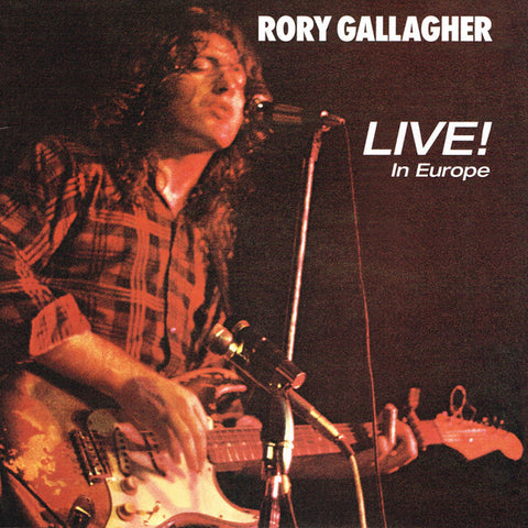 GALLAGHER, RORY : LIVE IN EUROPE (1972) LP 2018 REMASTERED REISSUE