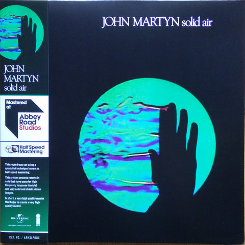 MARTYN, JOHN : SOLID AIR (1973) LP 2016 REISSUE ABBEY ROAD HALF SPEED MASTERING GATEFOLD REISSUE