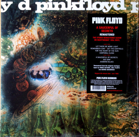 PINK FLOYD : A SAUCERFUL OF SECRETS (1968) LP 2016 STEREO REMASTERED GATEFOLD SLEEVE 180 GRAM VINYL