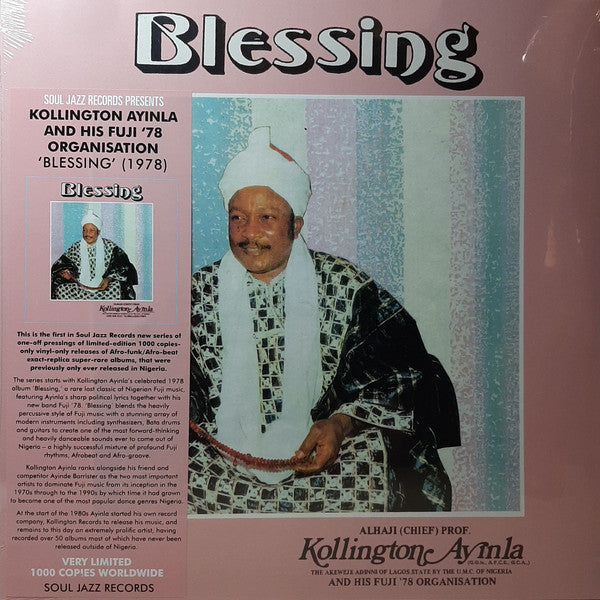 ALHAJI CHIEF KOLLINGTON AYINLA & HIS FUJI '78 ORGANIZATION : BLESSING (2020) LP SOUL JAZZ RECORDS