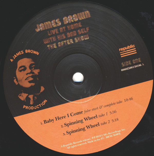 BROWN, JAMES : LIVE AT HOME WITH HIS BAD SELF , THE AFTER SHOW (2019) LP