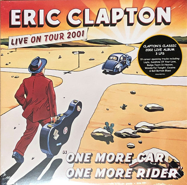 CLAPTON, ERIC : ONE MORE CAR ONE MORE RIDER , LIVE ON TOUR 2002 (2002) 3LP 2019 SUPER DELUXE CLEAR VINYL RSD RELEASE