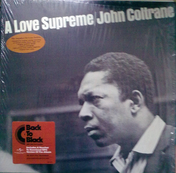 COLTRANE, JOHN : A LOVE SUPREME (1965) REMASTERED REISSUE 180 GRAM VINYL IN GATEFOLD SLEEVE