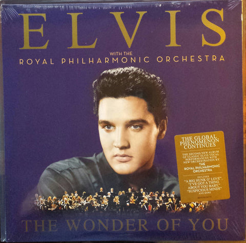 PRESLEY, ELVIS & THE ROYAL PHILHARMONIC ORCHESTRA : THE WONDER OF YOU (2016) 2LP REMASTERED COMPLILATION