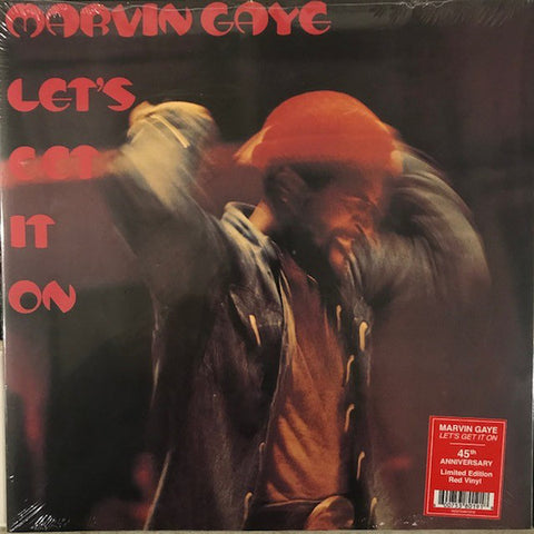 GAYE, MARVIN: LET'S GET IT ON (LIMITED RED VINYL EDITION)  (1973) LP 2018 REMASTER REISSUE GATEFOLD SLEEVE