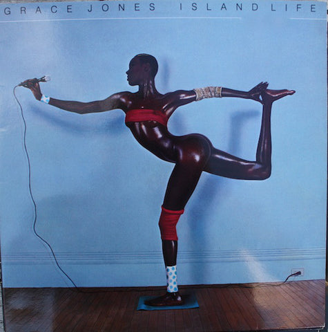 "JONES, GRACE : "" ISLAND LIFE "" (1985) LP BLUE ISLAND LABELS GATEFOLD SLEEVE VG+"