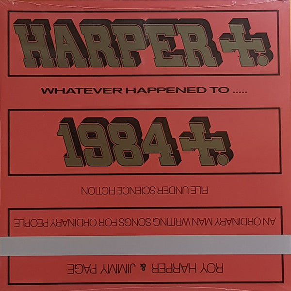HARPER, ROY & JIMMY PAGE : WHATEVER HAPPENED TO JUGULA (1985) LP 2019 REMASTERED REISSUE DELUXE GATEFOLD SLEEVE 180 GRAM