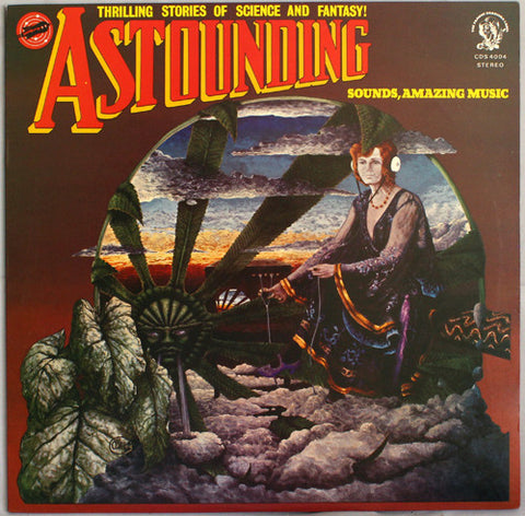 "HAWKWIND : "" ASTOUNDING "" (1976) LP WITH PRINTED INNER SLEEVE VG+"