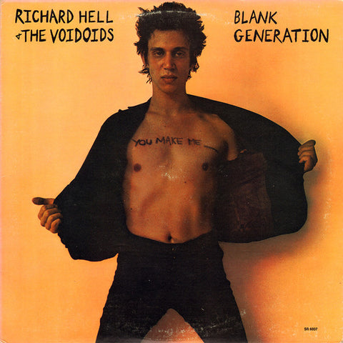 RICHARD HELL & THE VOIDOIDS : BLANK GENERATION (1977) LP 2017 REMASTERED LIMITED ORANGE VINYL
