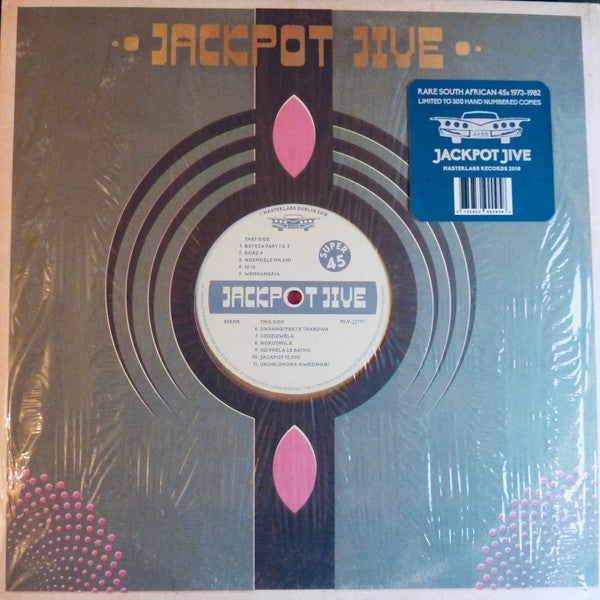 "JACKPOT JIVE : "" RARE SOUTH AFRICAN 45S 1973 - 1982 "" -VARIOUS ARTISTS (2018) LP VERY LIMITED PRESSING 300 WORLDWIDE"