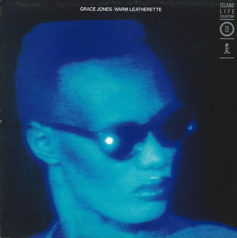 JONES , GRACE : WARM LEATHERETTE (1980) LP 1986 ISLAND REISSUE . SPOTLESS , BE SURPRISED THE RECORD WAS EVER PLAYED