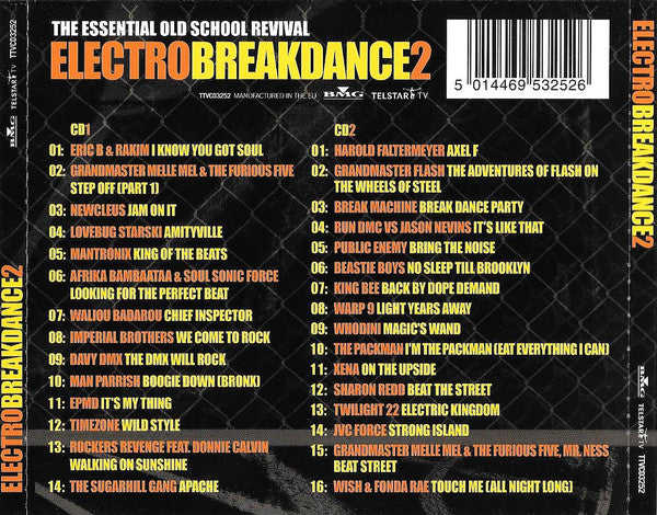 """ ELECTRO BREAKDANCE 2 - ESSENTIAL OLD SCHOOL REVIVAL "" : VARIOUS 2CD SET ( BOX ) USED CD"