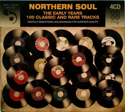 """ NORTHERN SOUL - THE EARLY YEARS - 100 CLASSIC AND RARE TRACKS "" : VARIOUS . 4CD ( BOX ) USED"