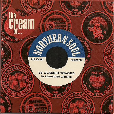 """ THE CREAM OF NORTHERN SOUL - 36 CLASSIC TRACKS "" : VARIOUS . 3CD ( BOX ) USED"