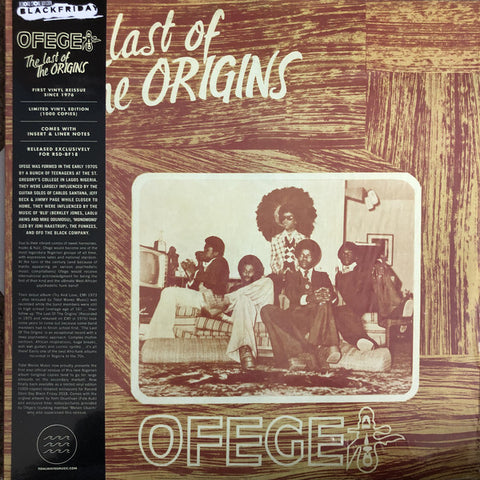 OFEGE : THE LAST OF THE ORIGINS (1976) LP 2018 REISSUE LIMITIED EDITION OF 1,000 COPIES