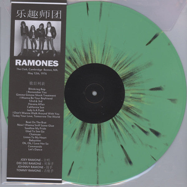 RAMONES : LIVE THE CLUB ,  CAMBRIDGE BOSTON M.A MAY 12TH 1976 (2015) LP 180 GRAM VINYL