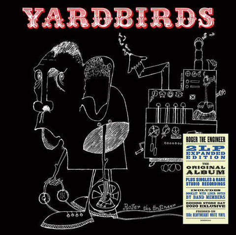"YARDBIRDS : "" ROGER THE ENGINEER "" - RSD SEPTEMBER 26TH 2020 (2020) 2LP 180 GRAM WHITE VINYL 1,500 WORLDWIDE"